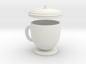 Acorn TeaCup  in White Natural Versatile Plastic