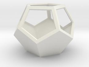 3D hexagon planter in White Natural Versatile Plastic
