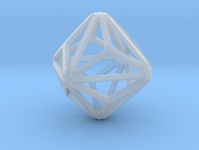 Triakis Octahedron in Smooth Fine Detail Plastic: Small