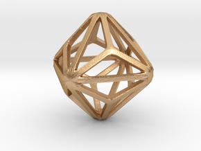 Triakis Octahedron in Natural Bronze: Small