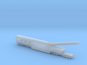 WWI US Naval 14 inch railway artillery 1/200 in Smooth Fine Detail Plastic