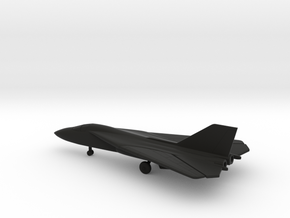 General Dynamics F-111B Aardvark (swept wings) in Black Natural Versatile Plastic: 6mm