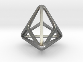 Triakis Tetrahedron in Natural Silver: Small