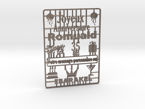 card_3dp in Polished Bronzed-Silver Steel