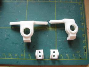 Axial SCX Max-Steering Conversion Kit with 2 shock in White Natural Versatile Plastic