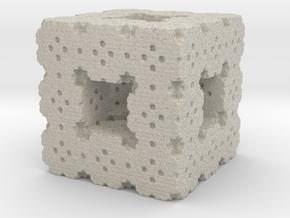Menger Cube Fractal in Natural Sandstone