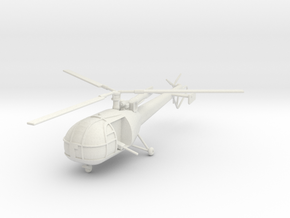 BW01 Alouette III K Car (1/100) in White Natural Versatile Plastic