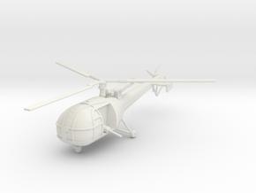 BW01 Alouette III K Car (1/100) in White Natural Versatile Plastic