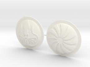 HOPLITE SHIELDS CALMAR GIRONNE  in White Processed Versatile Plastic