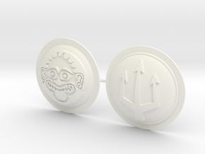 HOPLITE SHIELDS GORGON TRIDENT  in White Processed Versatile Plastic