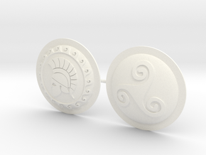 HOPLITE SHIELDS HELMET TRISKEL  in White Processed Versatile Plastic