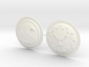 HOPLITE SHIELDS SNAKE LAUREL  in White Processed Versatile Plastic