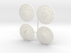 PHALANX SHIELD 1-4 X4  in White Processed Versatile Plastic