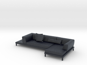 Miniature Marc U Sofa - Bonaldo in Black Professional Plastic: 1:24