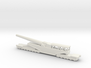 381/40  Italian railway artillery ww1 1/160  in White Natural Versatile Plastic