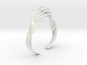 Liquid Tension* Bangle ( XS ) in White Premium Versatile Plastic