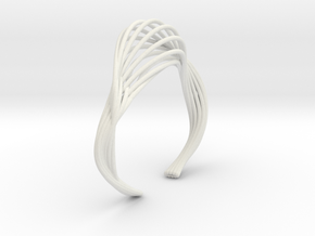 Liquid Tension* Bangle ( L) in White Natural Versatile Plastic