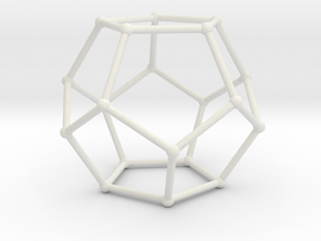 Dodecahedron 3 in White Natural Versatile Plastic