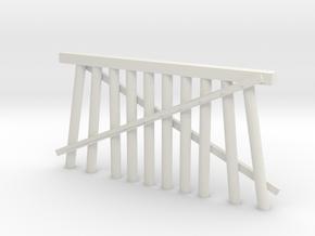 Double Track Trestle N (1:160) Modular Ten Piles in White Natural Versatile Plastic