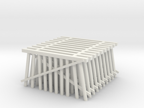 Double Track Trestle N (1:160) 10 Pack in White Natural Versatile Plastic