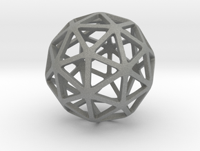 Pentakis Dodecahedron in Gray Professional Plastic: Small