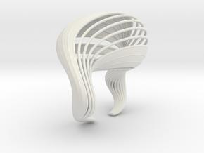Liquid Tension Bangle - Surface - L in White Natural Versatile Plastic