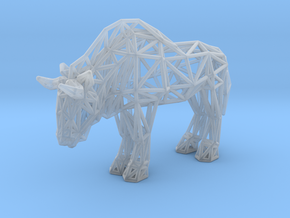 Wildebeest (adult) in Smooth Fine Detail Plastic