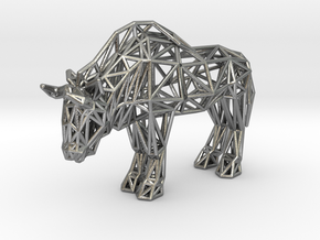 Wildebeest (adult) in Natural Silver