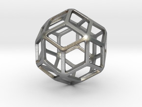 Rhombic Triacontahedron in Natural Silver: Small