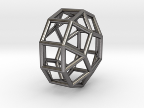 830 J39 Eongated Pentagonal Gyrobicupola #1 in Polished Nickel Steel