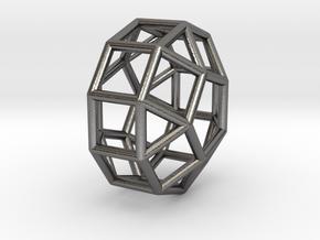 830 J39 Eongated Pentagonal Gyrobicupola #1 in Polished Nickel Steel