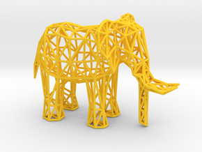 African Elephant (adult male) in Yellow Processed Versatile Plastic