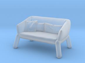 Miniature Nikos Sofa - Bonaldo in Smooth Fine Detail Plastic: 1:48 - O