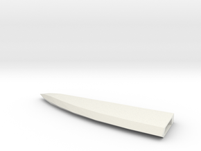 Larger Cleaver blade tip 3 in White Natural Versatile Plastic
