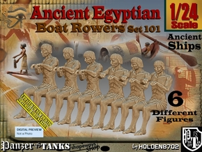 1/24 Ancient Egyptian Boat Rowers Set101 in White Natural Versatile Plastic