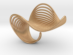 VEIN Ring in Natural Bronze: 6 / 51.5