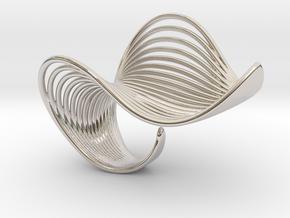 VEIN Ring in Rhodium Plated Brass: 6 / 51.5