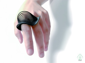 VEIN Ring in Black Natural Versatile Plastic: 9 / 59
