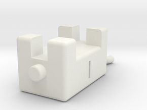 Vache 5cm in White Natural Versatile Plastic