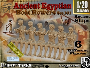 1/20 Ancient Egyptian Boat Rowers Set101 in White Natural Versatile Plastic