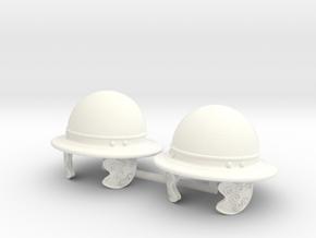 GAUL HELMET 2 X2 in White Processed Versatile Plastic