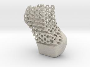 Right Block Shoe in Natural Sandstone