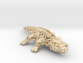 Nile Crocodile in 14k Gold Plated Brass