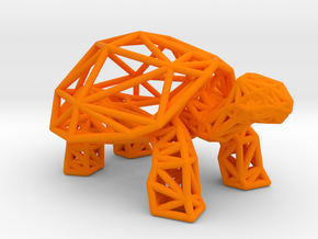 Galapagos Giant Tortoise in Orange Processed Versatile Plastic