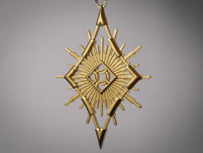 Sun Pendant 2.2 in Natural Brass