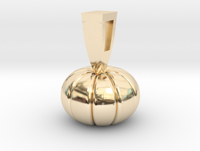 PUMPKIN in 14k Gold Plated Brass