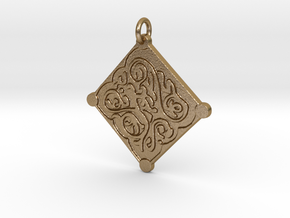 Triss Pendant in Polished Gold Steel