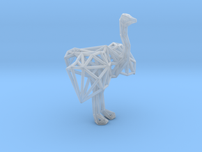 Ostrich (male adult) in Smooth Fine Detail Plastic