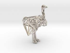 Ostrich (male adult) in Platinum