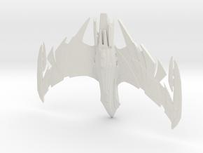 STO Deihu-Class Romulan Sci Command Battlecruiser in White Natural Versatile Plastic: Medium